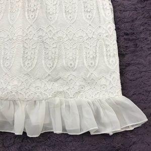2362c5e927d PrettyLittleThing Dresses - White Lace Chiffon Frill Detail Bodycon Dress 12
